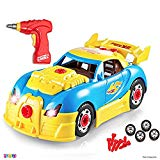 Take Apart Racing Car Toys - Build Your Own Toy Car with 30 Piece Constructions Set - Toy Car Comes with Engine Sounds & Lights & Drill with Toy Tools for Kids - Newest Version - Original - by Play22 Play22
