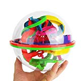 100 Barriers Maze Ball Cube Puzzle Toy 3D Labyrinth Magic Intellect Ball Balance Maze Puzzle Toy Children Kids Brain Teaser Fun Toys IG Back