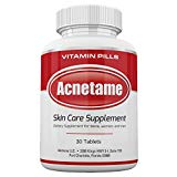 Acnetame 30 Ct Acne Pills- Supplements for Acne Vitamin Treatment- Tablets to Clear Oily Skin for Women, Men, Teens, and Adults Acnetame