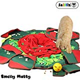 SNiFFiz SmellyMatty Dog Puzzle Toys - Food Snuffle Mat - Large Nosework Blanket + 5 Interactive Brain Teaser Treat Dispenser for Foraging Instinct, Indoor Boredom Stress Relief - Tricky Feeding Games Sniffiz