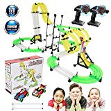Racing Track Car Toys, 171pcs 38.7ft DIY Rail Car Race Track Set 2 Cars 2 Remote Controller, Build Your Own 3D Super Track Car Playset, Birthday Party Festival Gift with Free Assembly for Children LAMRUS