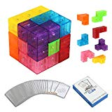Magnetic Buliding Blocks Magic Magnetic Cube for Kids-7pcs Magnetic Bricks and 54 Smart Cards Braind Toy/Brainteaser Puzzles for Develop Kids Intelligence by VC-HOME VC-HOME