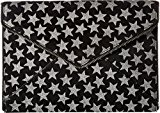 Rebecca Minkoff Women's Black Glitter Star Leo Clutch, Black, One Size