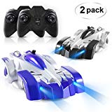 ANTAPRCIS Remote Control Car - Set of 2 RC Car Toy, Rechargeable Dual Mode 360° Rotating Stunt Racing Vehicle, Birthday Gift for Kids Boy Girl, Black & Blue ANTAPRCIS