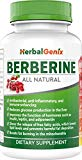 Lower Cholesterol, Triglyceride, Weight & Lower Blood Sugar/Glucose with HerbalGenix Berberine 500mg Supplement. Made with ALL Natural Ingredients. Antioxidant Supplement. NON-GMO/Gluten Free/Veg Caps HerbalGenix