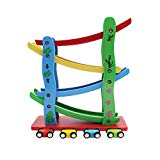 Maggift Ramp Racer,Wooden Ramp Car Toy for Kids, 4 Cars MAGGIFT