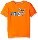 PUMA Big Boys' No.1 Logo Tee, Fire Orange, 14-16 (Large)