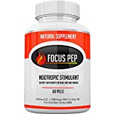 Addrena Focus Pep OTC Stimulants Brain Boosting Dietary Supplement, 1207 mg, 60 Tablets Addrena