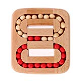 Potato001 Magic Cube Puzzle Wooden Intelligence Toy Chinese Brain Teaser Game Toy 3D Puzzle for Kids Adults size Ball In Maze Potato001
