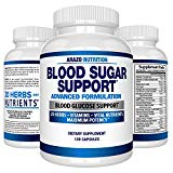 Blood Sugar Support Supplement - 20 HERBS & Multivitamin for Blood Sugar Control with Alpha Lipoic Acid & Cinnamon - 120 Pills - Arazo Nutrition Arazo Nutrition