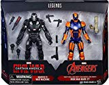 Marvel Legends 6 Inch Captain America: Civil War Action Figure Set (War Machine and Iron Man Mark 27) Hasbro