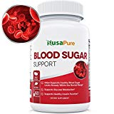 BEST Blood Sugar Control Supplement (NON-GMO) : Supports Healthy Blood Glucose Levels Naturally with Bitter Melon, Magnesium, Gymnema Sylvestre, Guggul Herbs & More: 60 Caps NusaPure