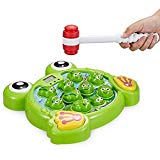 INvench Interactive Whack Frog Children Toy - Learning Fun Super Frog Game with Music&Light Action Game for Boys Girls of Age 3 4 5 6 7 8 INvench